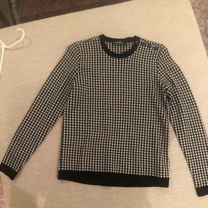 Ralph Lauren - black/white houndstooth sweater